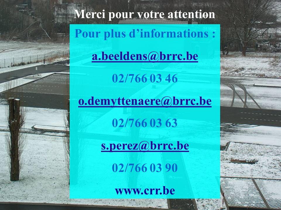 4 mars de 2009 – Les Assises de lEau en Région Wallonne Pour plus dinformations : a.beeldens@brrc.be 02/766 03 46 o.demyttenaere@brrc.be 02/766 03 63