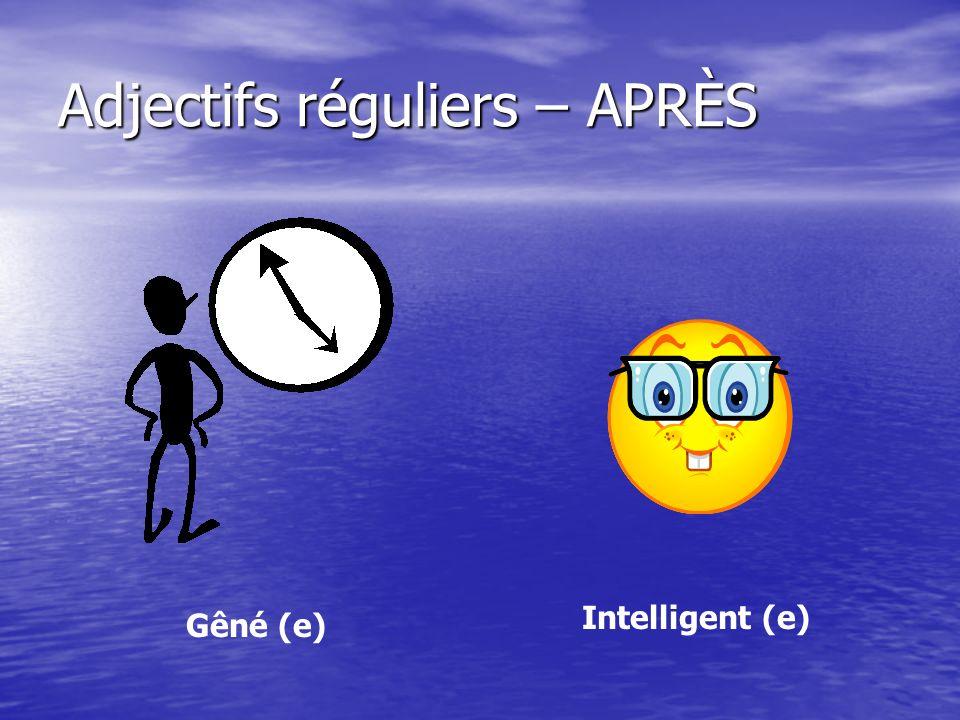 Adjectifs réguliers – APRÈS Effrayé (e) Traumatisé (e)