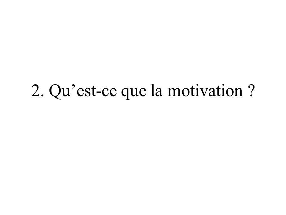 2. Quest-ce que la motivation ?