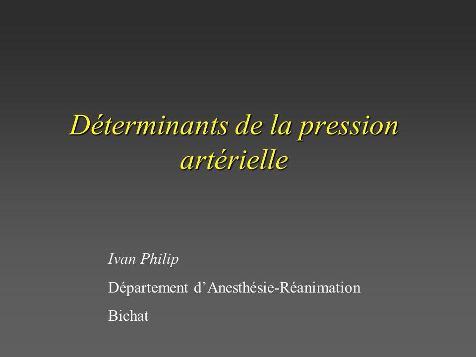 Déterminants de la pression artérielle Ivan Philip Département dAnesthésie-Réanimation Bichat