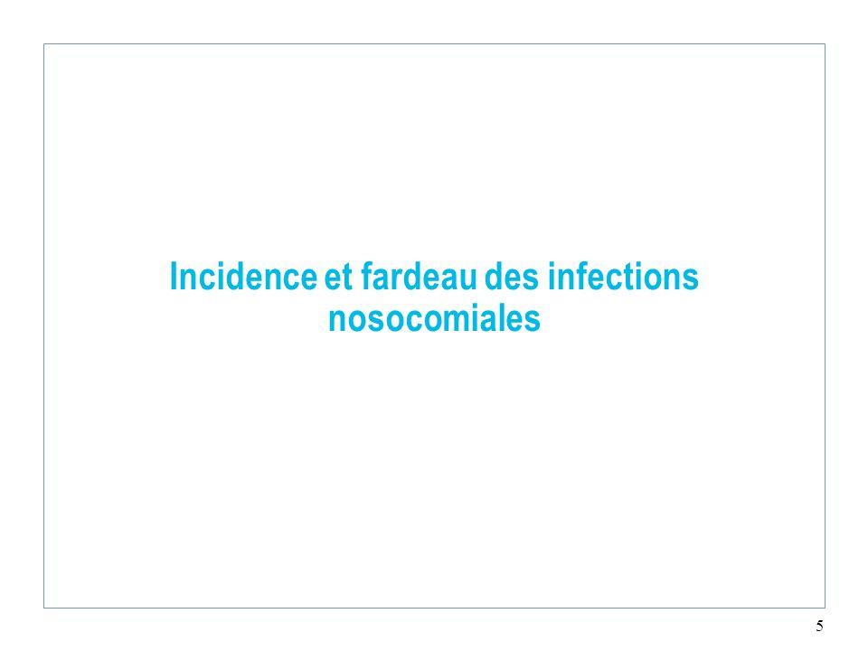 5 Incidence et fardeau des infections nosocomiales