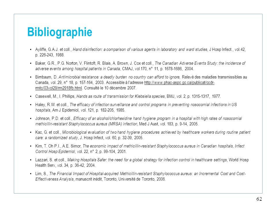 62 Bibliographie Ayliffe, G.A.J.