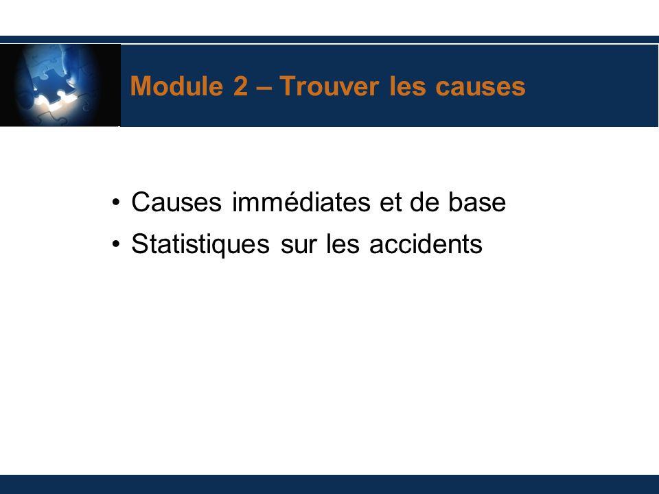 ? Trouver les causes Pourquoi les accidents se produisent-ils?