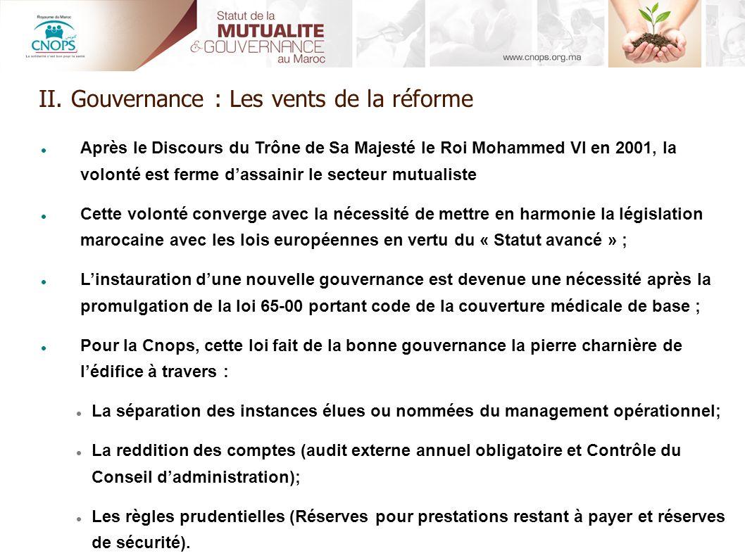 Après le Discours du Trône de Sa Majesté le Roi Mohammed VI en 2001, la volonté est ferme dassainir le secteur mutualiste Cette volonté converge avec