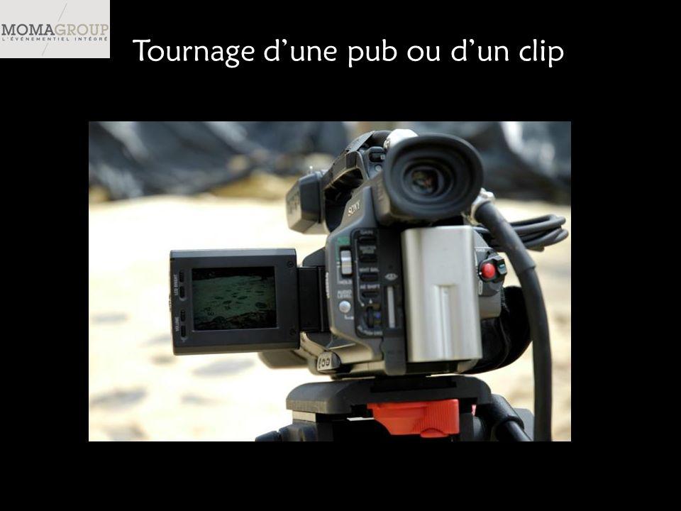 Tournage dune pub ou dun clip