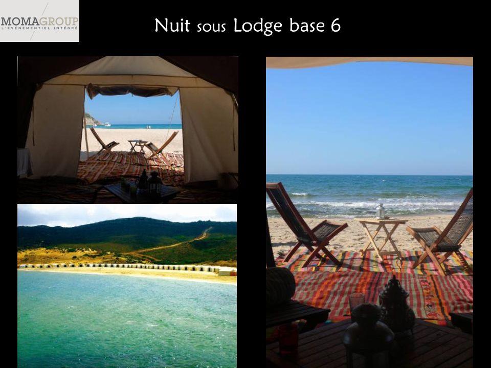 Nuit sous Lodge base 6