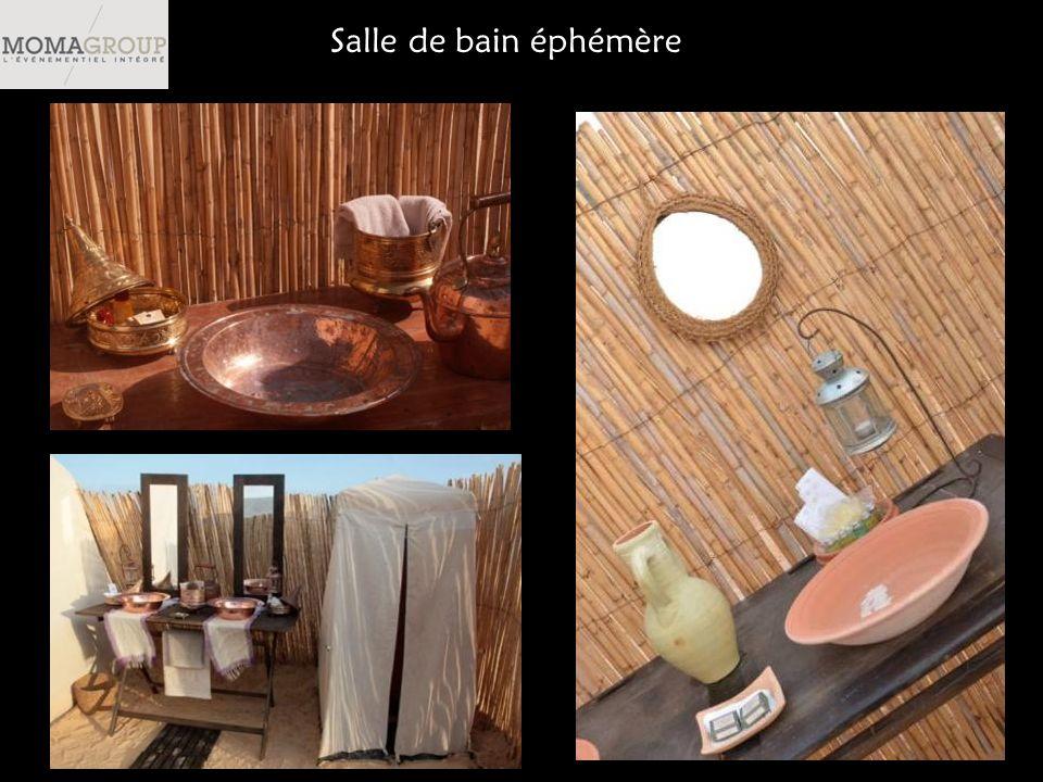 Salle de bain éphémère