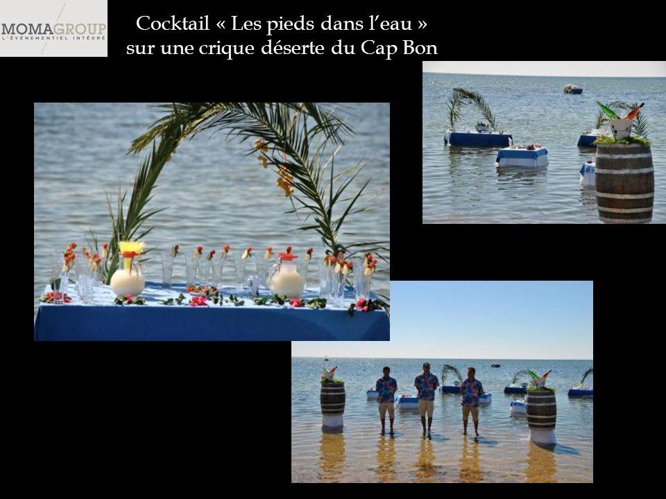 Cocktail « Les pieds dans leau » sur une crique déserte du Cap Bon