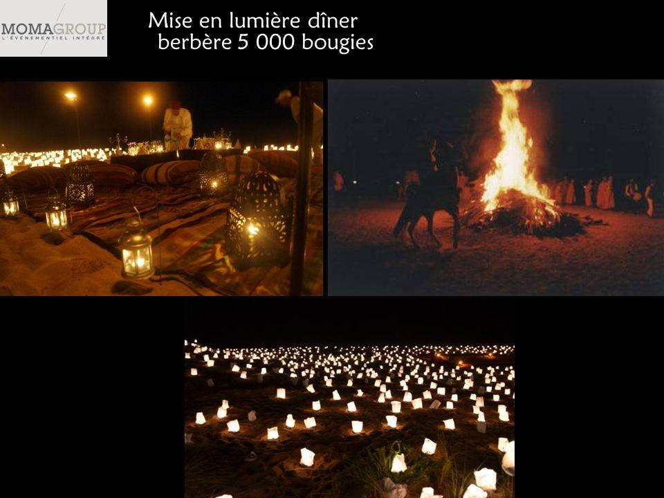 Mise en lumière dîner berbère 5 000 bougies