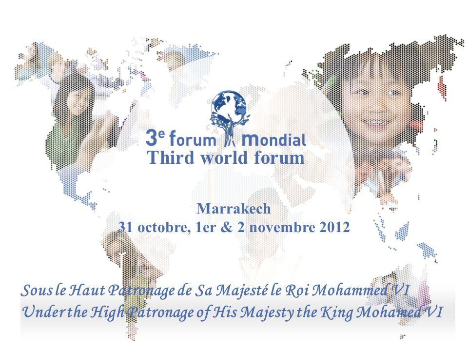 Comité mondial pour les apprentissages tout au long de la vie Sous le Haut Patronage de Sa Majesté le Roi Mohammed VI Under the High Patronage of His