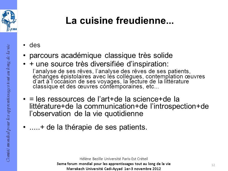 Comité mondial pour les apprentissages tout au long de la vie 12 Hélène Bezille Université Paris-Est Créteil 3eme forum mondial pour les apprentissage
