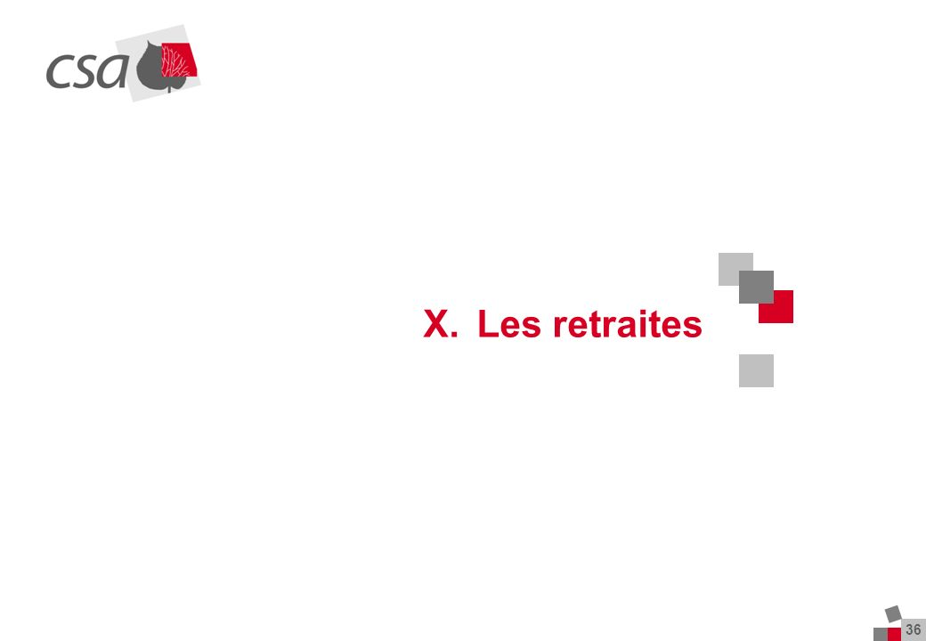 36 X.Les retraites