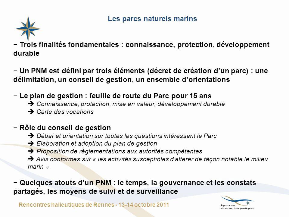 Trois finalités fondamentales : connaissance, protection, développement durable Un PNM est défini par trois éléments (décret de création dun parc) : u