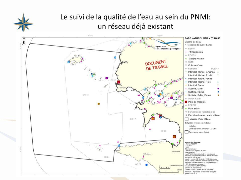 Le suivi de la qualité de leau au sein du PNMI: un réseau déjà existant