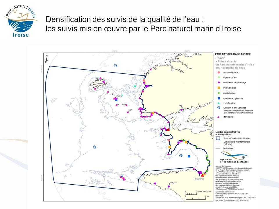 Densification des suivis de la qualité de leau : les suivis mis en œuvre par le Parc naturel marin dIroise