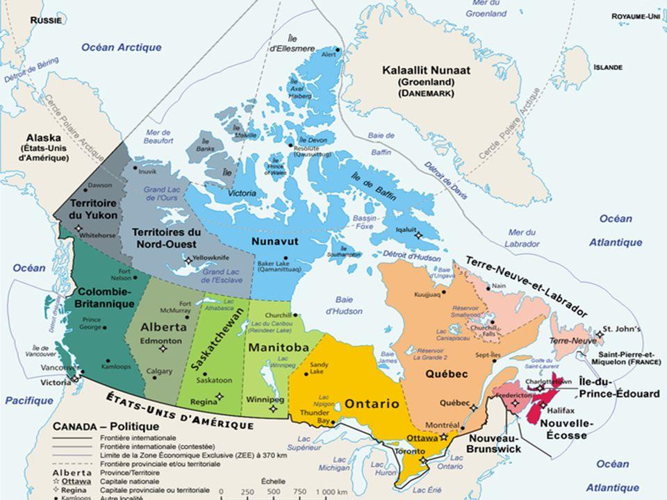 Les régions physiographiques du Canada