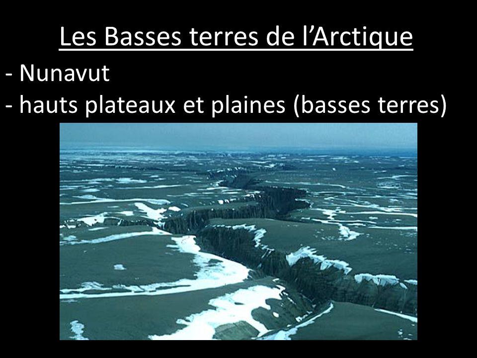 Les Basses terres de lArctique - Nunavut - hauts plateaux et plaines (basses terres)