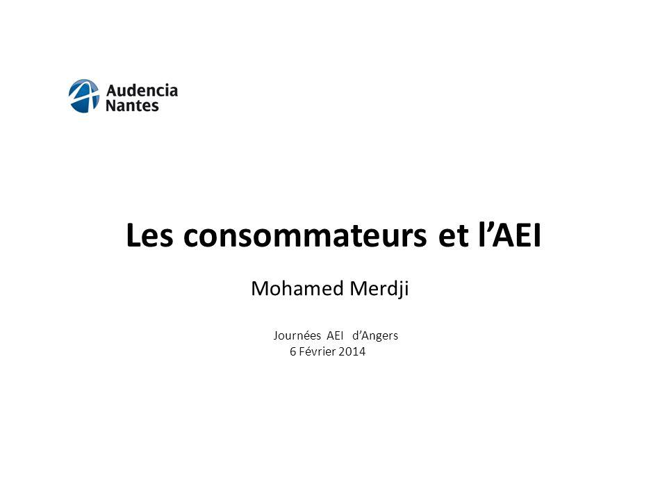 Les consommateurs et lAEI Journées AEI dAngers 6 Février 2014 Mohamed Merdji