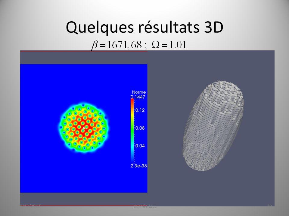 Quelques résultats 3D 19/12/2013journée LJLL20