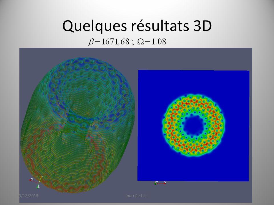 Quelques résultats 3D 19/12/2013journée LJLL21
