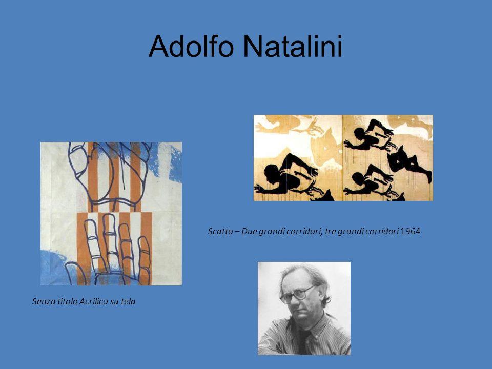 Adolfo Natalini Senza titolo Acrilico su tela Scatto – Due grandi corridori, tre grandi corridori 1964
