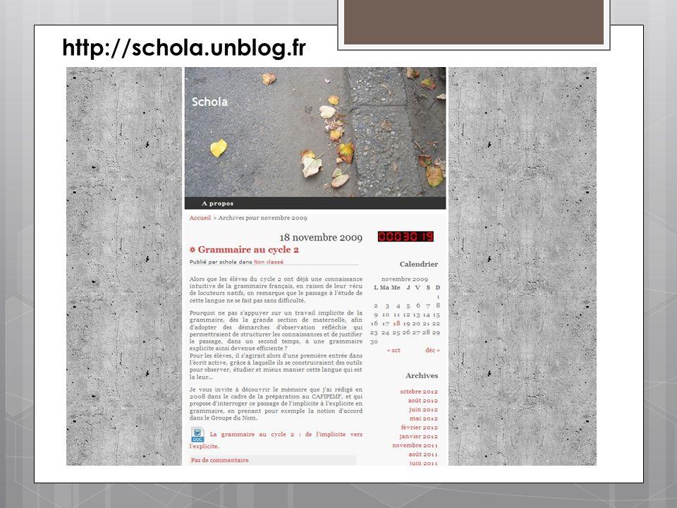 http://schola.unblog.fr