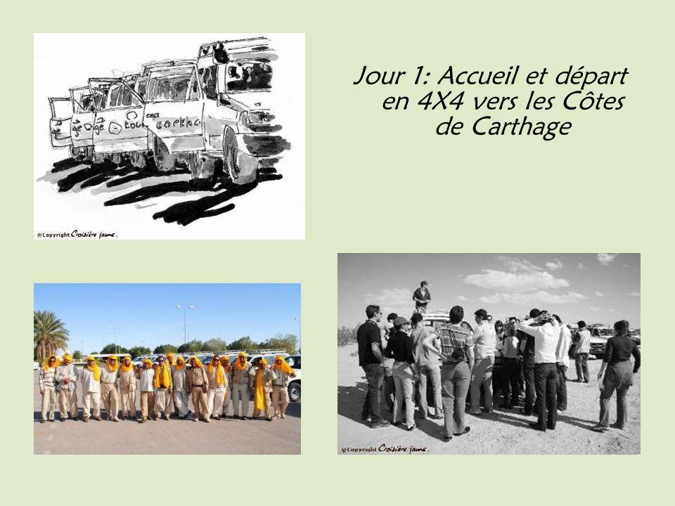 Jour 1: Accueil et départ en 4X4 vers les Côtes de Carthage