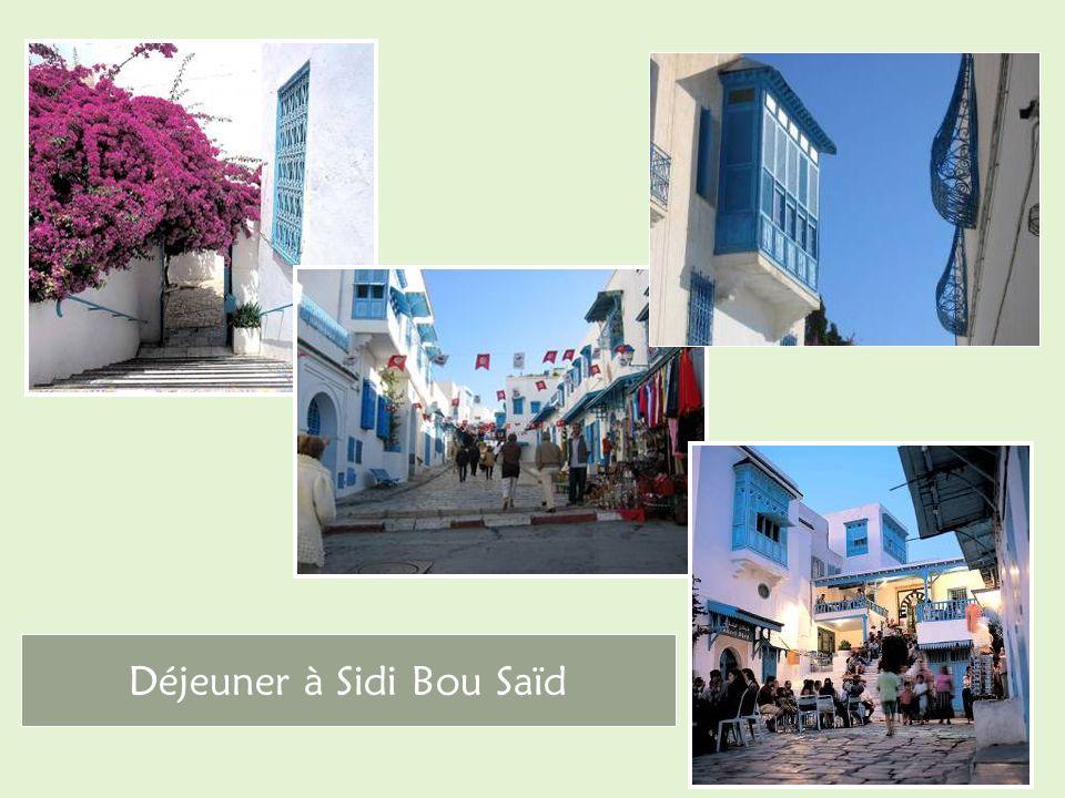 Déjeuner à Sidi Bou Saïd