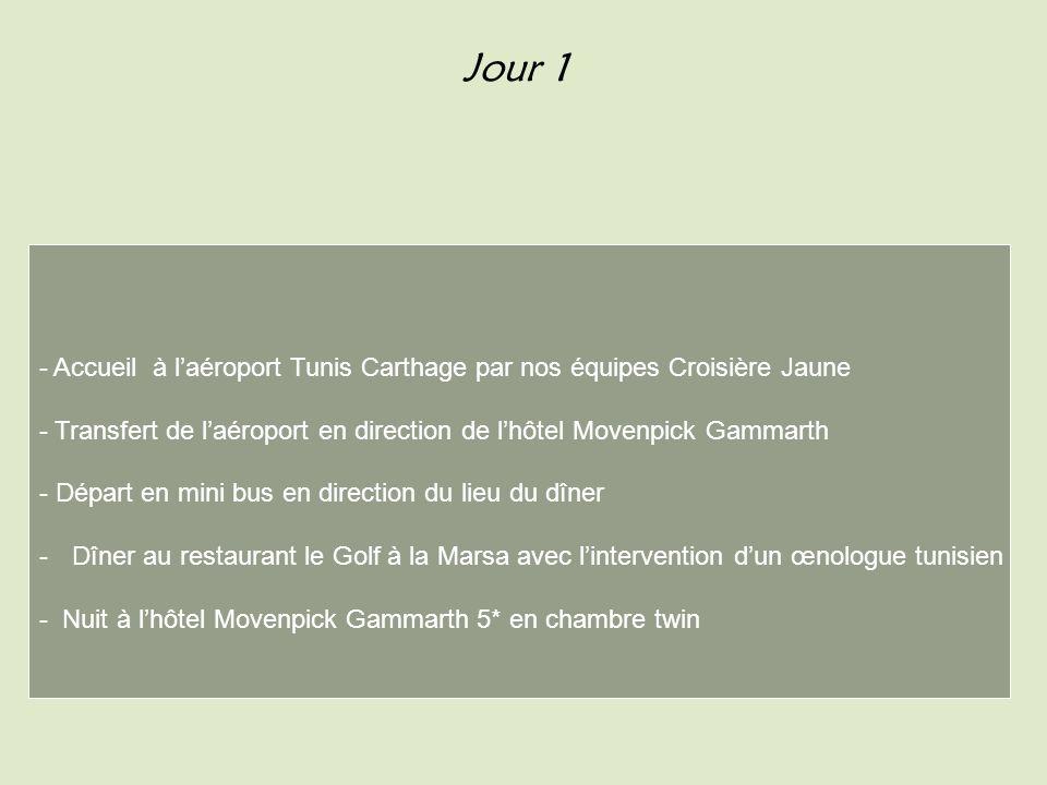 Jour 2 - Après midi A la découverte de Carthage Ex dépreuves sur le site du Tophet Pour y accéder trouvez donc la bonne carte et présentez là à la personne de notre organisation Croisière Jaune à lentrée .