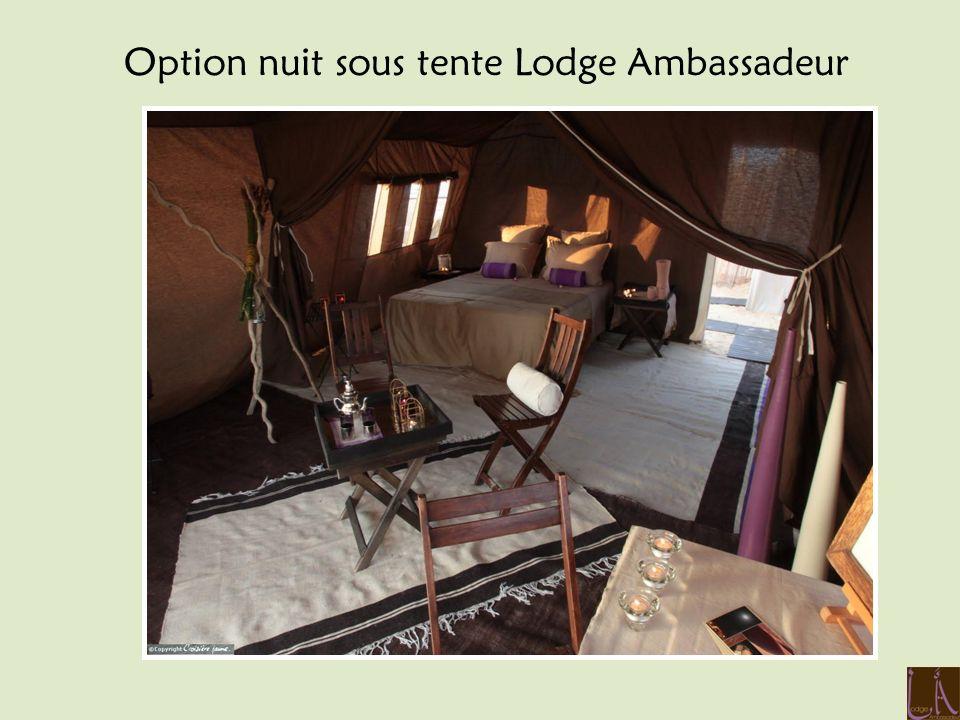 Option nuit sous tente Lodge Ambassadeur
