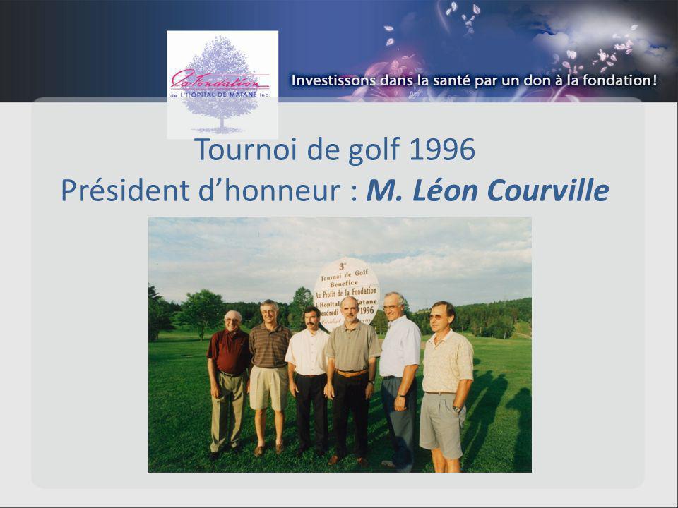 Tournoi de golf 1996 Président dhonneur : M. Léon Courville