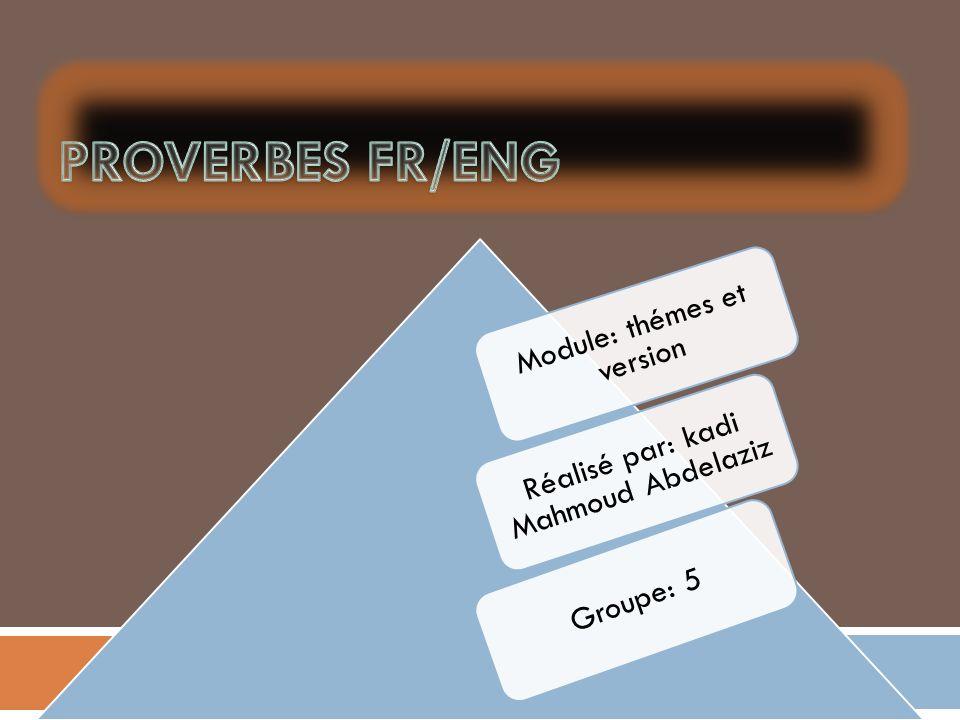 Module: thémes et version Réalisé par: kadi Mahmoud Abdelaziz Groupe: 5