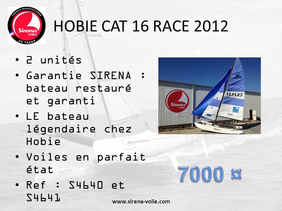 HOBIE CAT 16 RACE 2012 2 unités Garantie SIRENA : bateau restauré et garanti LE bateau légendaire chez Hobie Voiles en parfait état Ref : S4640 et S46