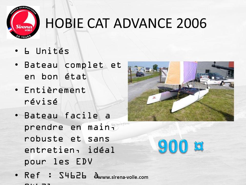 HOBIE CAT TEDDY 2003 3 unités Entièrement révisés Voiles Bon état Bateau conçu pour les clubs Ref : S4509 à S4511 www.sirena-voile.com