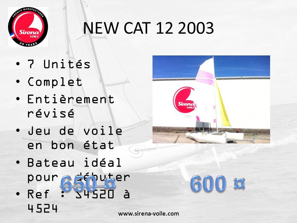 DECLIC 2002 3 unités Garantie SIRENA : bateau restauré et garanti Voiles en bon état Spi asymétrique Ref : S4489 à S4491 www.sirena-voile.com