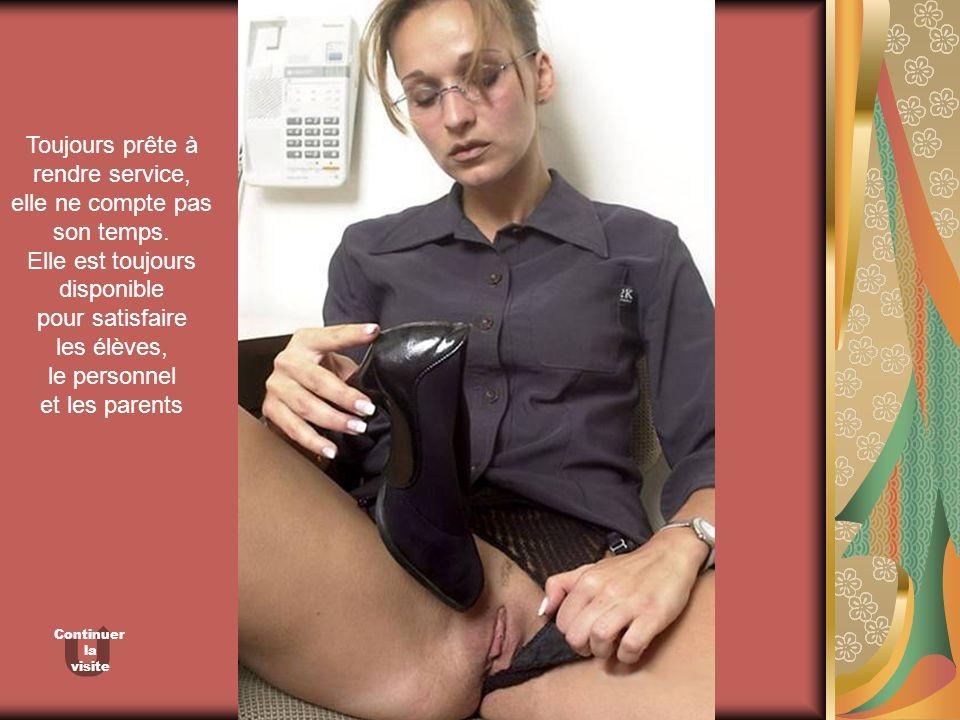 Toujours prête à rendre service, elle ne compte pas son temps.