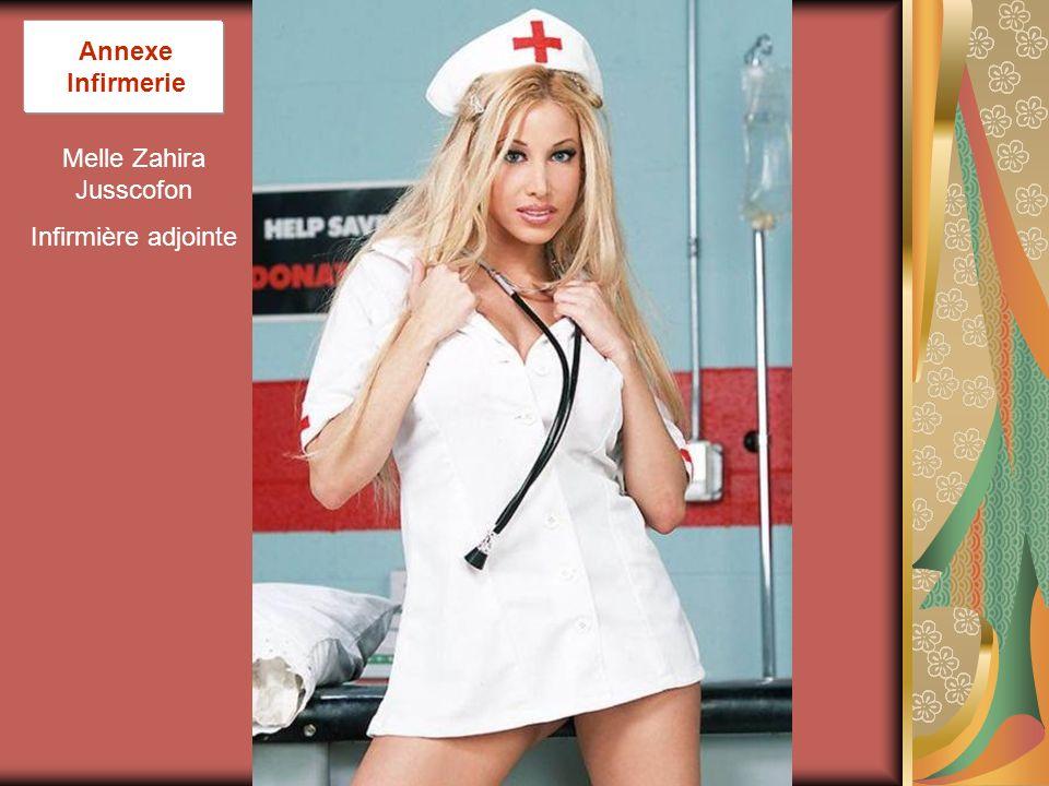 Melle Zahira Jusscofon Infirmière adjointe Annexe Infirmerie