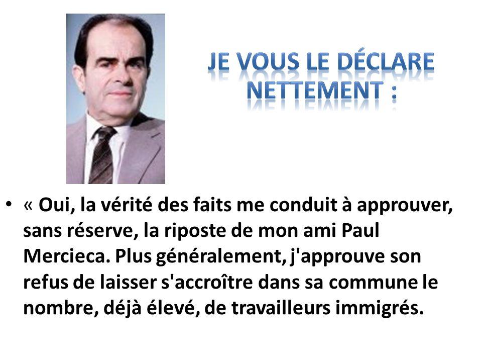 Lettre de Georges Marchais, alors secrétaire général du PC, reproduite dans « LHumanité » du 6 janvier 1981.