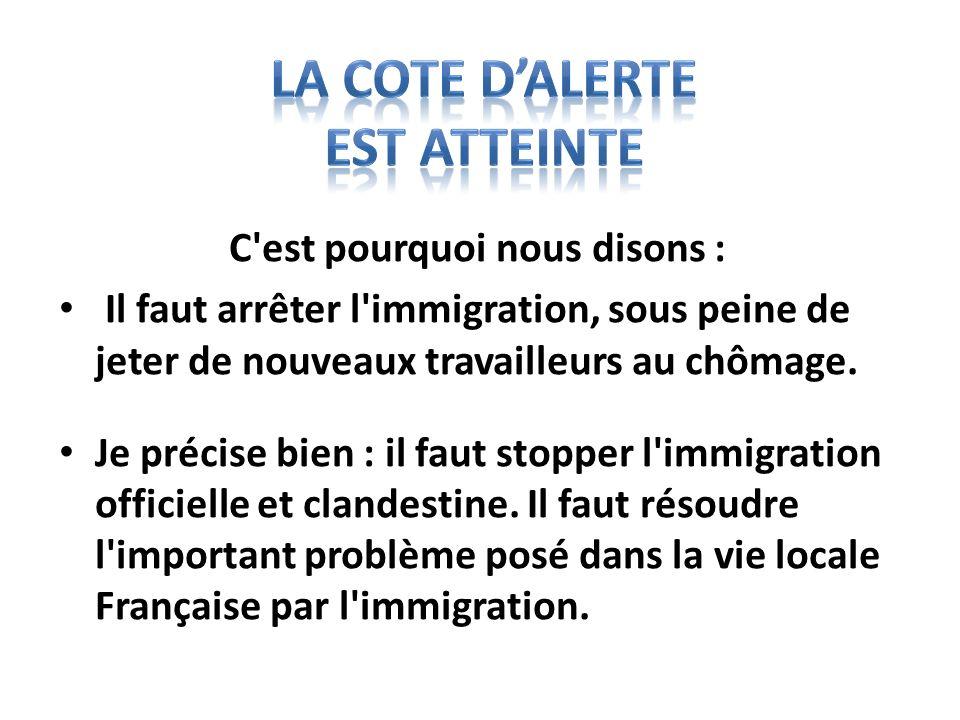 En raison de la présence en France de près de quatre millions et demi de travailleurs immigrés et de membres de leurs familles(*), la poursuite de l immigration pose aujourd hui de graves problèmes.
