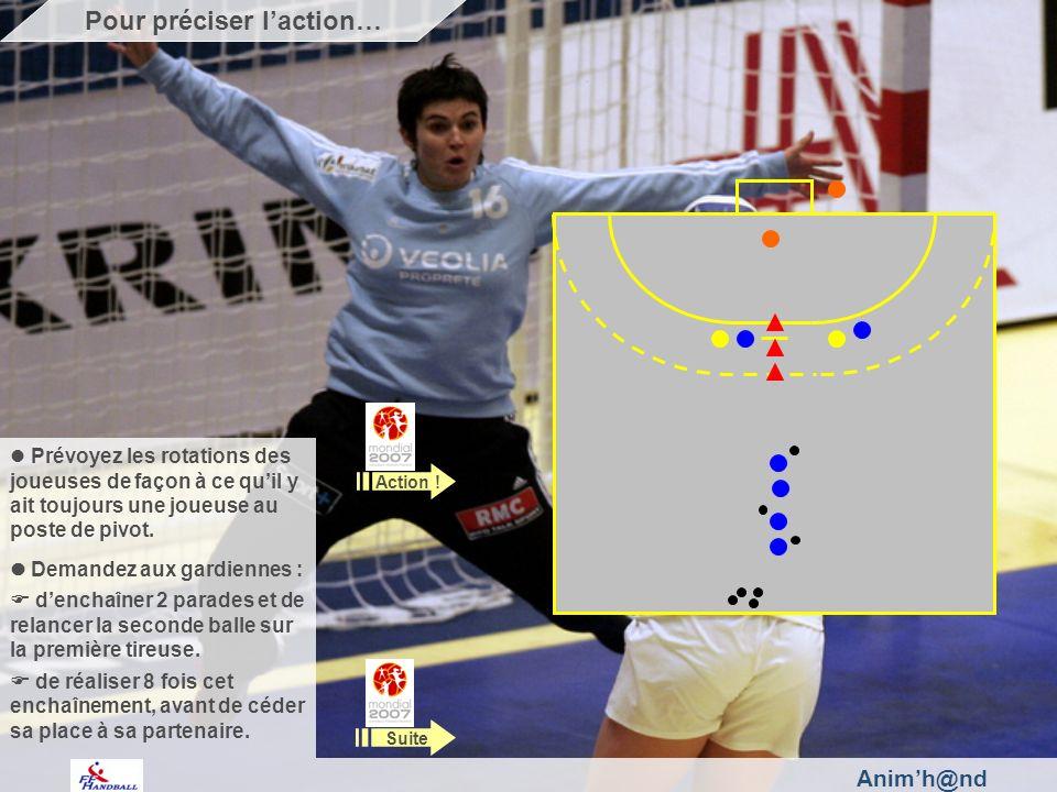 Animh@nd Prévoyez les rotations des joueuses de façon à ce quil y ait toujours une joueuse au poste de pivot.