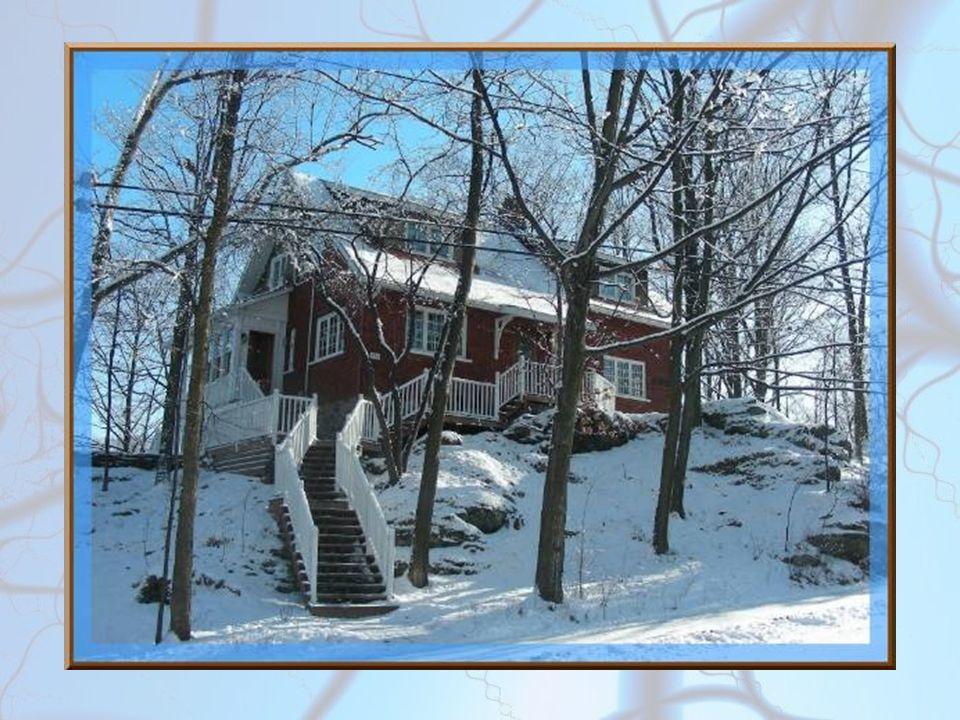 Souvent construites en hauteur, les maisons sont entourées de nombreux arbres.