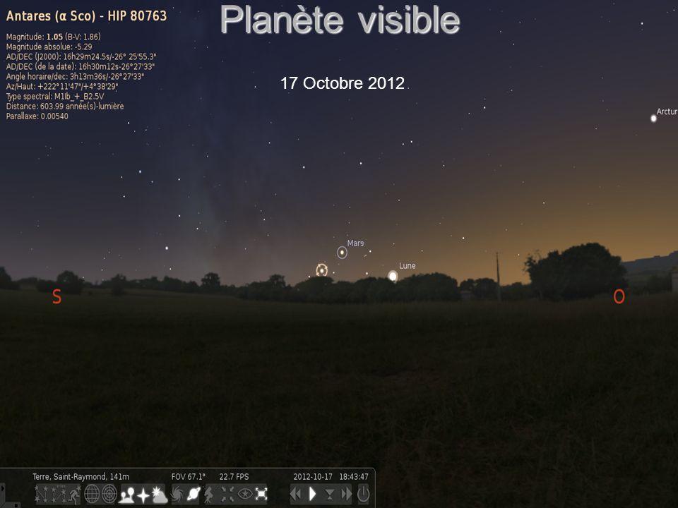 Planète visible 18 Octobre 2012