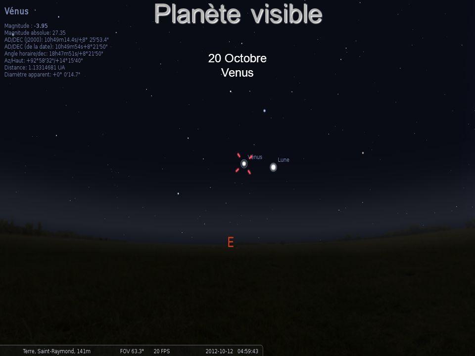 Planète visible 20 Octobre Venus