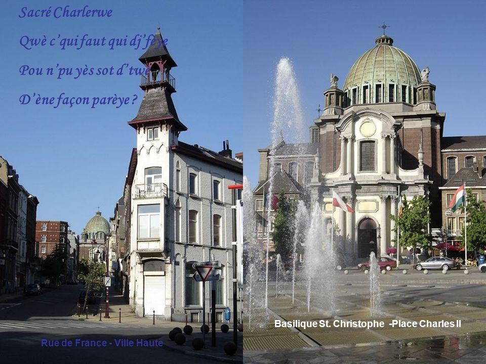 Charleroi Ville Haute - Université du Travail Paul Pastur Dji seus del pougnie Di vis compagnons Qui donrit leu vie Pou tpays walon 1961