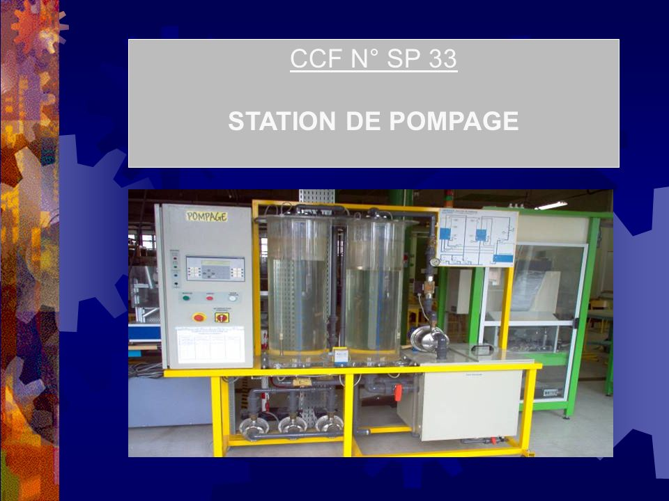 CCF N° SP 33 STATION DE POMPAGE