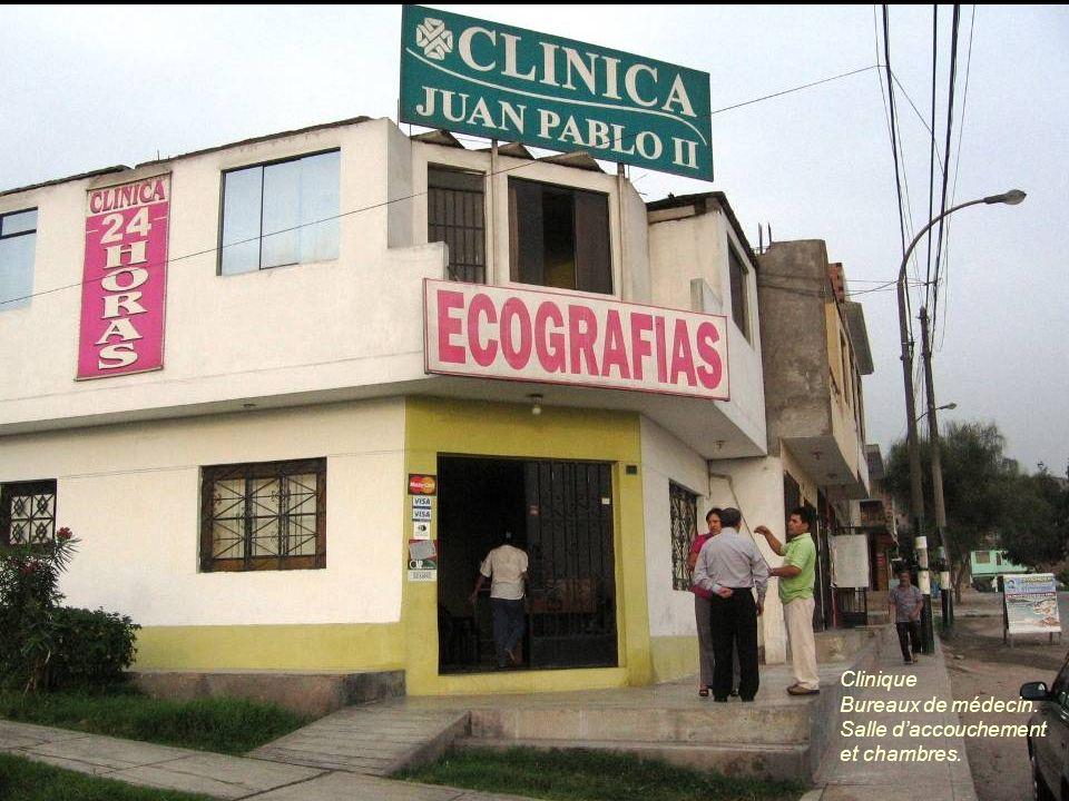 Clinique Bureaux de médecin. Salle daccouchement et chambres.