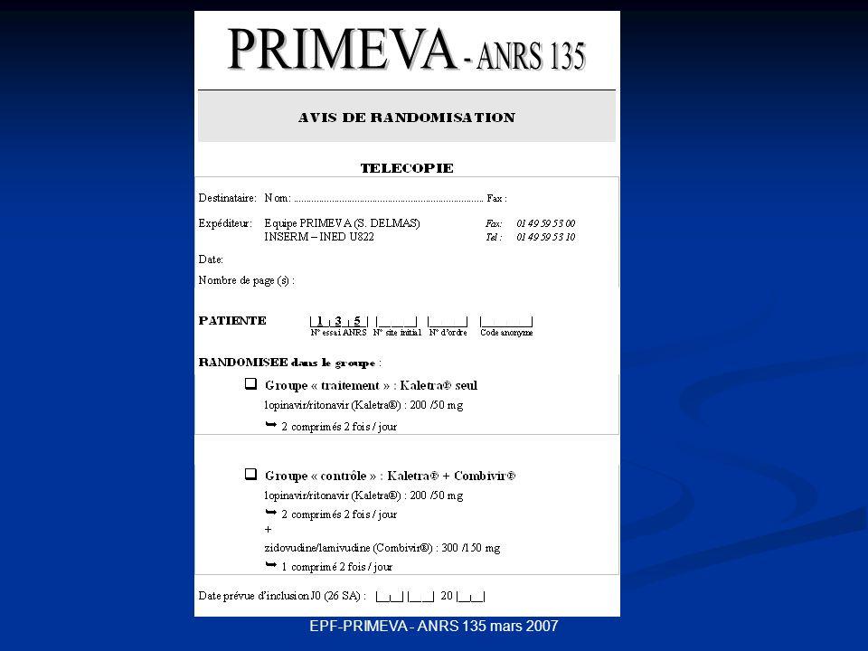 EPF-PRIMEVA - ANRS 135 mars 2007