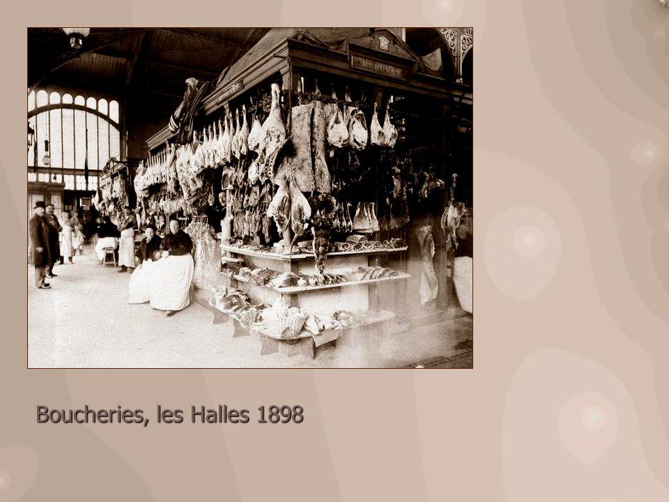 Boucheries, les Halles 1898