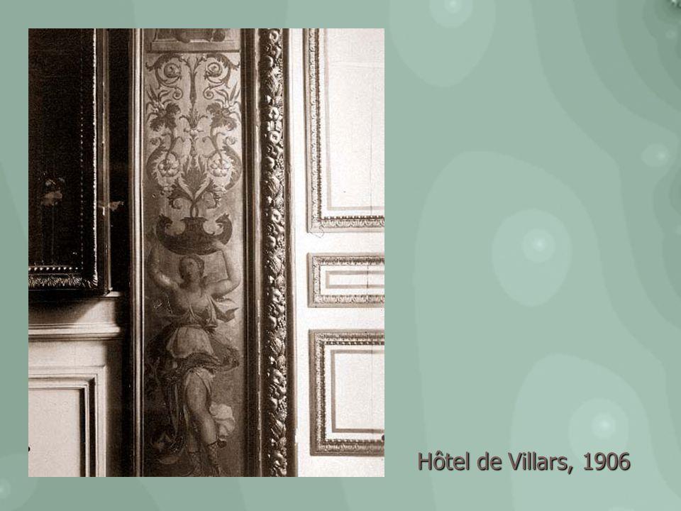 Hôtel de Villars, 1906