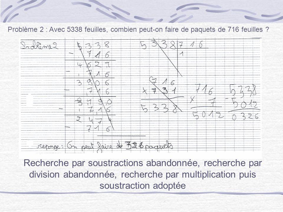 Recherche par multiplication, le nombre à multiplier nest d abord pas le bon.